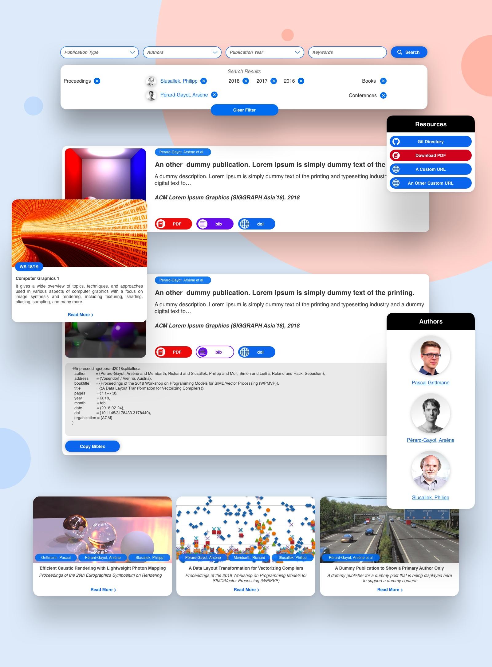Website Redesign: Computer Graphics Lab